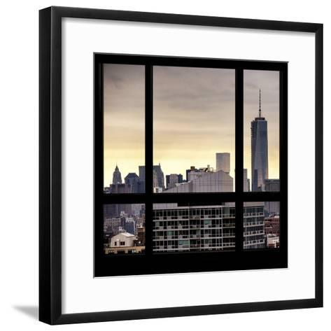 View from the Window - One World Trade Center-Philippe Hugonnard-Framed Art Print