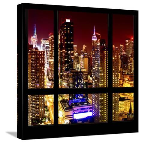 View from the Window - Midtown Manhattan Night-Philippe Hugonnard-Stretched Canvas Print