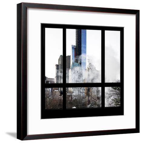 View from the Window - Central Park Buildings-Philippe Hugonnard-Framed Art Print