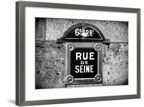 Paris Focus - Rue de Seine-Philippe Hugonnard-Framed Art Print