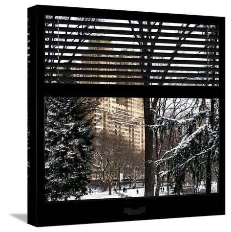 View from the Window - Central Park Buildings-Philippe Hugonnard-Stretched Canvas Print