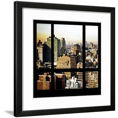View from the Window - Manhattan Architecture-Philippe Hugonnard-Framed Art Print