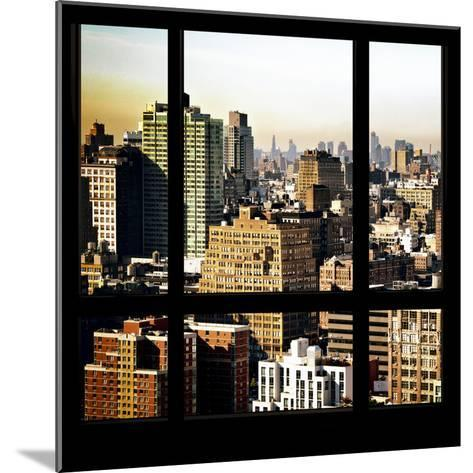 View from the Window - Manhattan Architecture-Philippe Hugonnard-Mounted Photographic Print