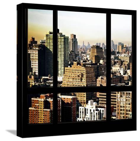 View from the Window - Manhattan Architecture-Philippe Hugonnard-Stretched Canvas Print