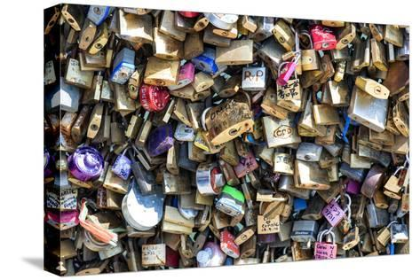 Paris Focus - Love Locks-Philippe Hugonnard-Stretched Canvas Print