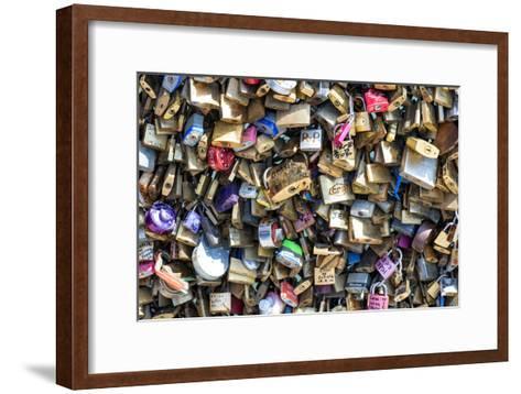 Paris Focus - Love Locks-Philippe Hugonnard-Framed Art Print