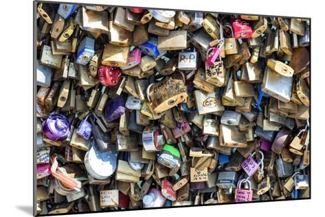 Paris Focus - Love Locks-Philippe Hugonnard-Mounted Photographic Print