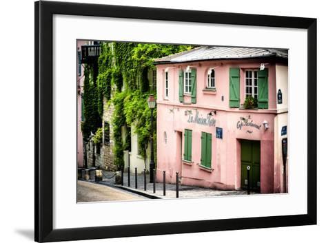 Paris Focus - La Maison Rose in Montmartre-Philippe Hugonnard-Framed Art Print