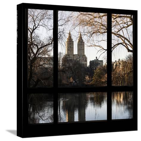View from the Window - Central Park in Autumn-Philippe Hugonnard-Stretched Canvas Print