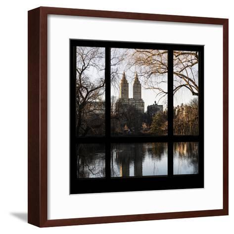 View from the Window - Central Park in Autumn-Philippe Hugonnard-Framed Art Print