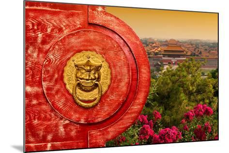 China 10MKm2 Collection - The Door God - Forbidden City-Philippe Hugonnard-Mounted Photographic Print