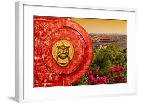 China 10MKm2 Collection - The Door God - Forbidden City-Philippe Hugonnard-Framed Art Print