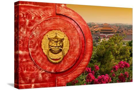 China 10MKm2 Collection - The Door God - Forbidden City-Philippe Hugonnard-Stretched Canvas Print