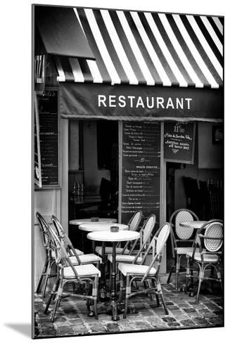 Paris Focus - French Restaurant-Philippe Hugonnard-Mounted Photographic Print