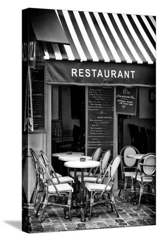 Paris Focus - French Restaurant-Philippe Hugonnard-Stretched Canvas Print
