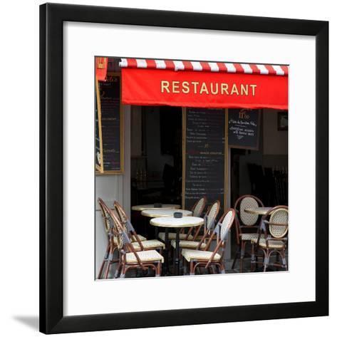 Paris Focus - French Restaurant-Philippe Hugonnard-Framed Art Print