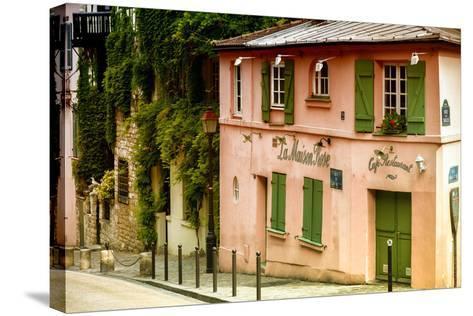 Paris Focus - La Maison Rose in Montmartre-Philippe Hugonnard-Stretched Canvas Print