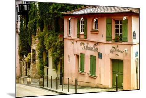 Paris Focus - La Maison Rose in Montmartre-Philippe Hugonnard-Mounted Photographic Print
