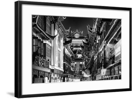 China 10MKm2 Collection - Traditional Architecture in Yuyuan Garden at night - Shanghai-Philippe Hugonnard-Framed Art Print