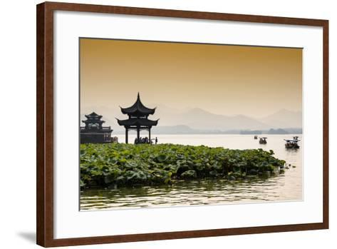 China 10MKm2 Collection - West Lake at sunset-Philippe Hugonnard-Framed Art Print