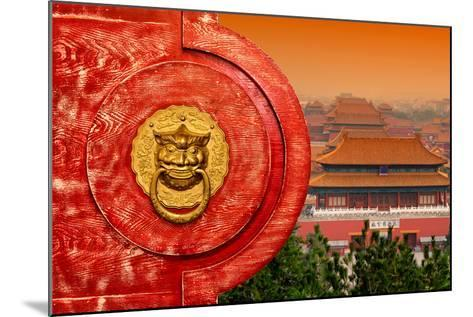 China 10MKm2 Collection - The Door God - Forbidden City Architecture-Philippe Hugonnard-Mounted Photographic Print