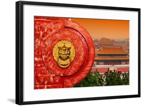 China 10MKm2 Collection - The Door God - Forbidden City Architecture-Philippe Hugonnard-Framed Art Print