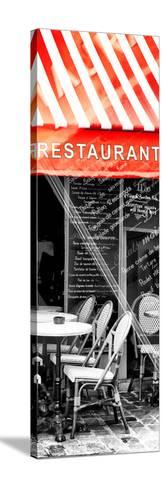 Paris Focus - French Restaurant-Philippe Hugonnard-Stretched Canvas Print