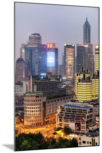 China 10MKm2 Collection - The Bund at Night - Shanghai-Philippe Hugonnard-Mounted Photographic Print