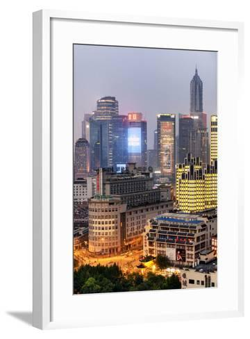 China 10MKm2 Collection - The Bund at Night - Shanghai-Philippe Hugonnard-Framed Art Print