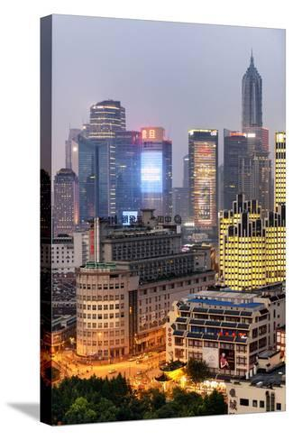 China 10MKm2 Collection - The Bund at Night - Shanghai-Philippe Hugonnard-Stretched Canvas Print