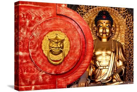 China 10MKm2 Collection - The Door God - Gold Buddha-Philippe Hugonnard-Stretched Canvas Print
