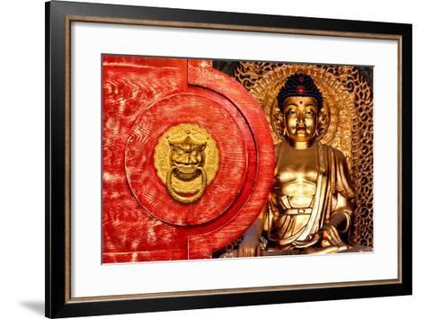 China 10MKm2 Collection - The Door God - Gold Buddha-Philippe Hugonnard-Framed Art Print