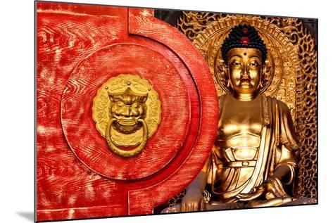 China 10MKm2 Collection - The Door God - Gold Buddha-Philippe Hugonnard-Mounted Photographic Print