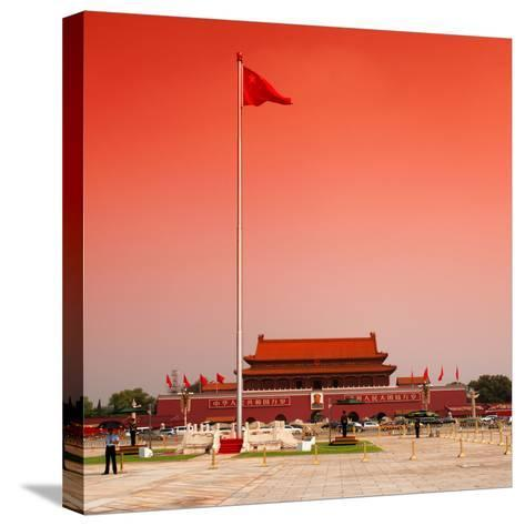 China 10MKm2 Collection - Tiananmen Square-Philippe Hugonnard-Stretched Canvas Print