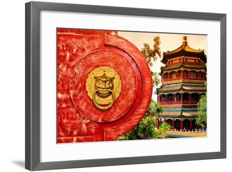 China 10MKm2 Collection - The Door God - Summer Palace-Philippe Hugonnard-Framed Art Print