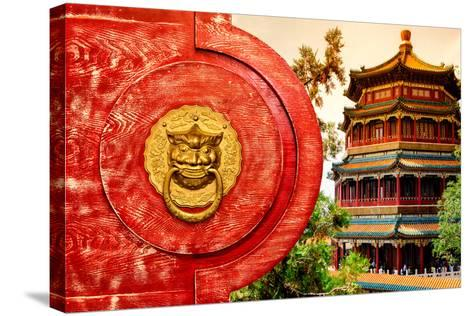 China 10MKm2 Collection - The Door God - Summer Palace-Philippe Hugonnard-Stretched Canvas Print