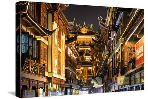 China 10MKm2 Collection - Traditional Architecture in Yuyuan Garden at night - Shanghai-Philippe Hugonnard-Stretched Canvas Print