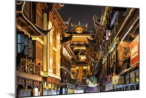 China 10MKm2 Collection - Traditional Architecture in Yuyuan Garden at night - Shanghai-Philippe Hugonnard-Mounted Photographic Print