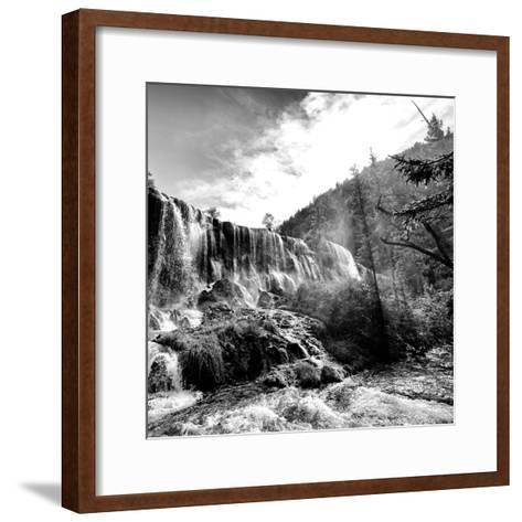 China 10MKm2 Collection - Waterfalls in the Jiuzhaigou National Park-Philippe Hugonnard-Framed Art Print