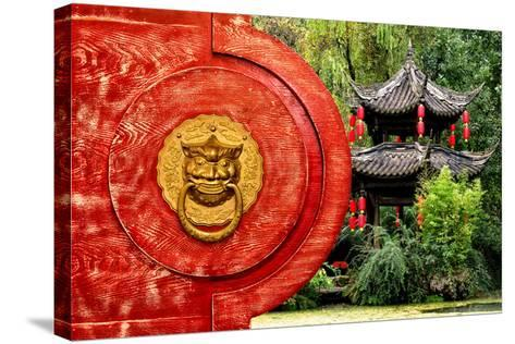 China 10MKm2 Collection - The Door God - Green Temple-Philippe Hugonnard-Stretched Canvas Print