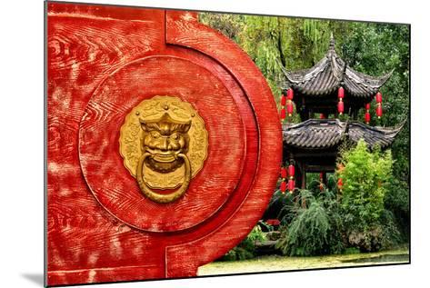 China 10MKm2 Collection - The Door God - Green Temple-Philippe Hugonnard-Mounted Photographic Print