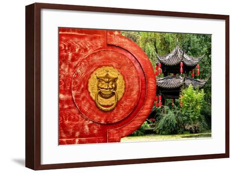 China 10MKm2 Collection - The Door God - Green Temple-Philippe Hugonnard-Framed Art Print