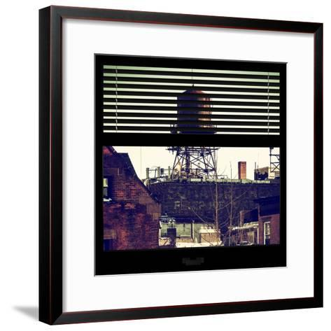 View from the Window - NYC Water Tank-Philippe Hugonnard-Framed Art Print