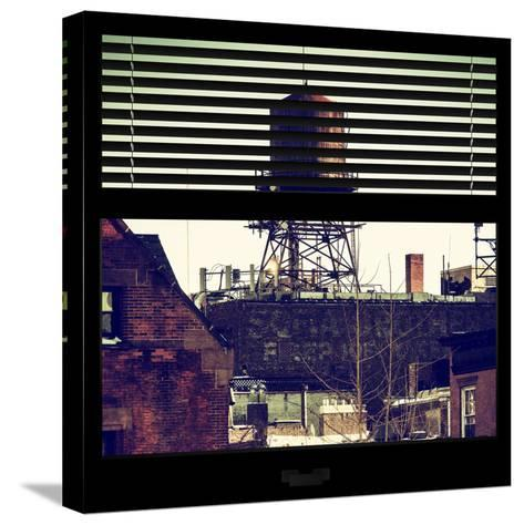 View from the Window - NYC Water Tank-Philippe Hugonnard-Stretched Canvas Print