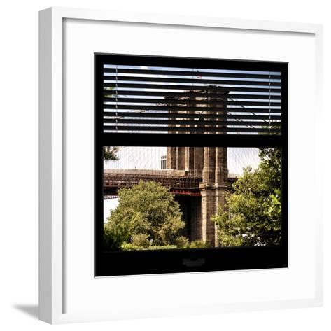 View from the Window - Brooklyn Bridge-Philippe Hugonnard-Framed Art Print
