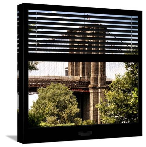 View from the Window - Brooklyn Bridge-Philippe Hugonnard-Stretched Canvas Print