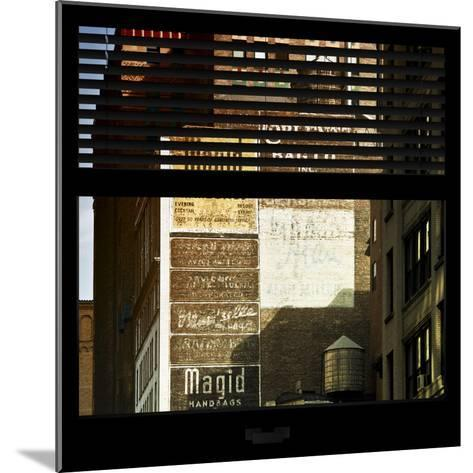 View from the Window - Old Facade - NYC-Philippe Hugonnard-Mounted Photographic Print