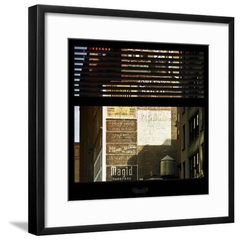 View from the Window - Old Facade - NYC-Philippe Hugonnard-Framed Art Print