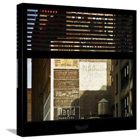 View from the Window - Old Facade - NYC-Philippe Hugonnard-Stretched Canvas Print