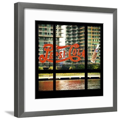 View from the Window - NYC Urban Sign-Philippe Hugonnard-Framed Art Print